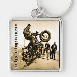 Subida de la colina de Harley Llavero Cuadrado Plateado