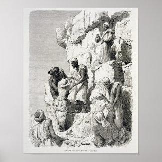 Subida de la gran pirámide, siglo XIX Póster