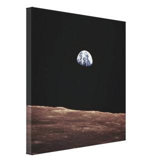 Subida de la tierra de la superficie lunar lona estirada galerías