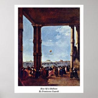 Subida de un globo de Francesco Guardi Impresiones