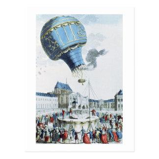 Subida del globo de aire caliente de los hermanos tarjetas postales