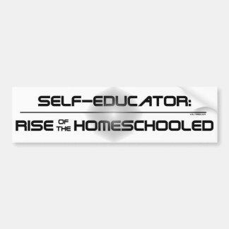Subida del Homeschooled Etiqueta De Parachoque