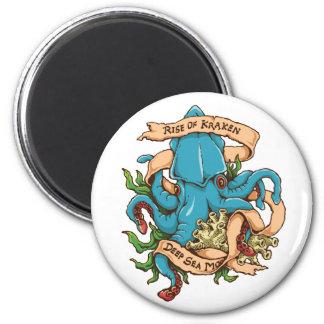 Subida del pulpo del monstruo de Kraken Imán Redondo 5 Cm
