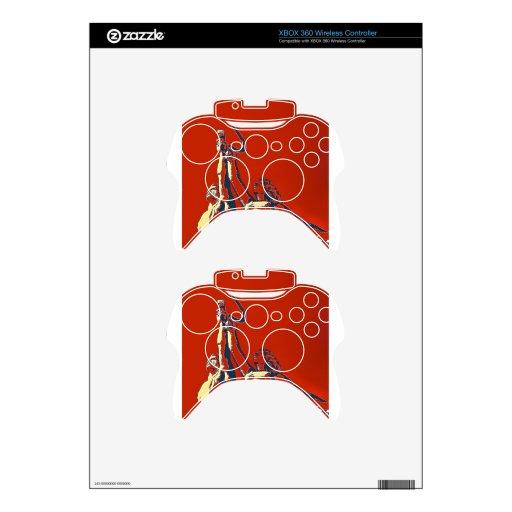Subida del trabajador rojo II Mando Xbox 360 Calcomanía