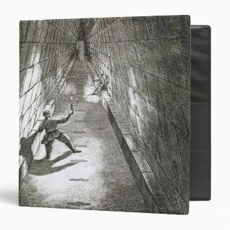 Subida interior de una pirámide, c.1780 (grabado)