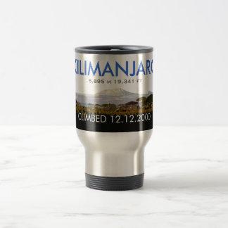 Subida personalizada del monte Kilimanjaro Taza De Viaje De Acero Inoxidable