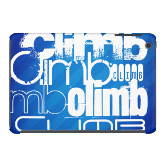 Subida; Rayas azules reales Fundas De iPad Mini