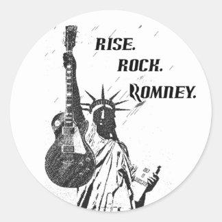 SUBIDA. ROCA. ROMNEY - Pegatinas de Mitt Romney Etiquetas Redondas