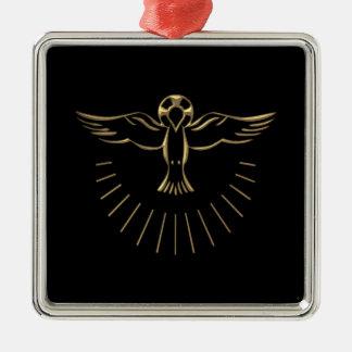 """Subida """"tridimensional"""" de oro del Espíritu Santo Ornamento Para Reyes Magos"""