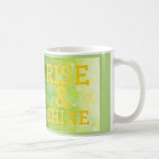 Subida y brillo taza
