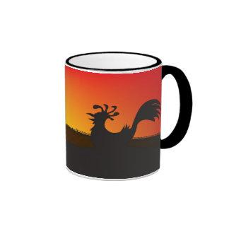 Subida y brillo taza de dos colores