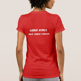 Subie Girls Rock Those Curves Tee Shirt
