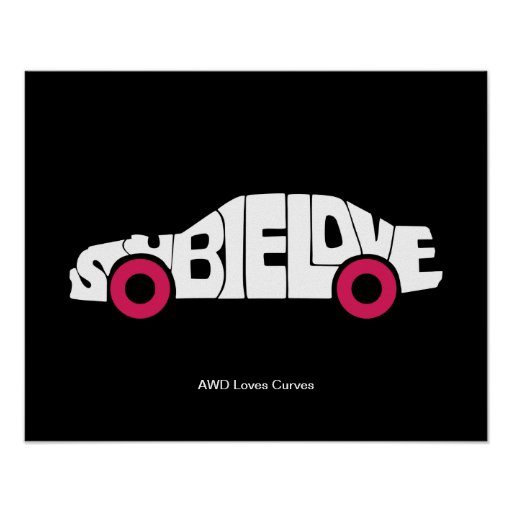 Subie Love AWD Posters