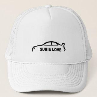 Subie Love Black silhouette Trucker Hat