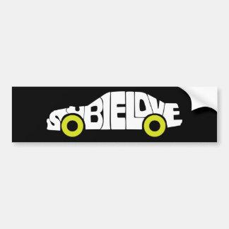 Subie Love Green Bumpersticker Bumper Sticker