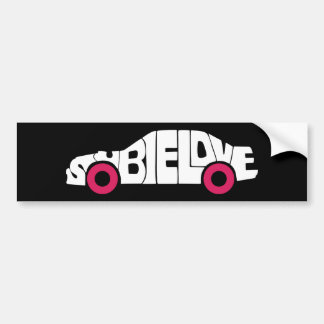 Subie Love Pink Bumpersticker Bumper Sticker