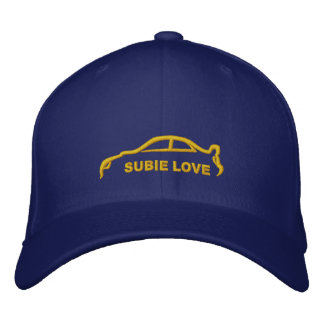 Subie Love Royal Blue with Gold Silhouette Embroidered Baseball Cap