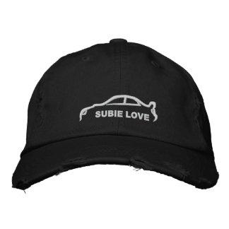 Subie Love White Silhouette Cap