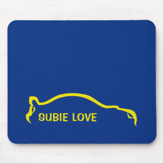 Subie Love - World Rally Blue and Yellow Mouse Pad