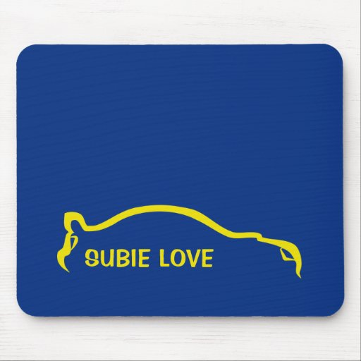 Subie Love - World Rally Blue and Yellow Mousepads