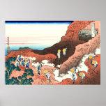 Subiendo en el monte Fuji, por Katsushika Hokusai Posters