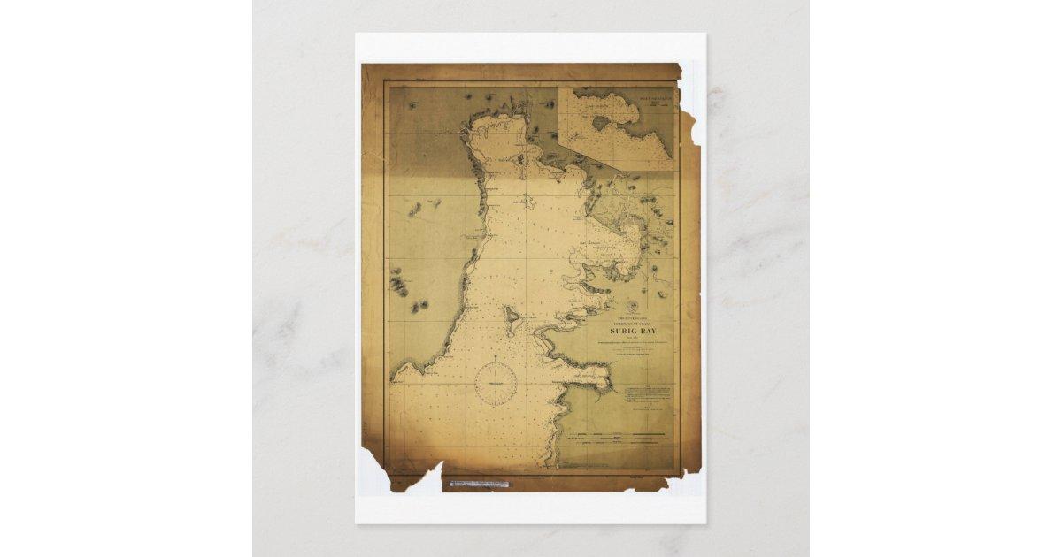 Subig Subic Bay Luzon Philippines 1902 Map Zazzle Com
