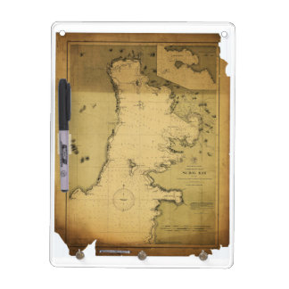 Subig (Subic) Bay Luzon Philippines 1902 Map Dry-Erase Board