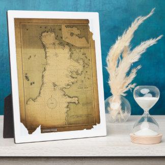 Subig (Subic) Bay Luzon Philippines 1902 Map Plaque