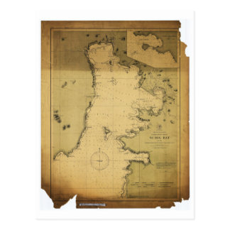 Subig (Subic) Bay Luzon Philippines 1902 Map Postcard