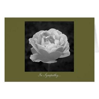 Subió en blanco y negro - en condolencia tarjeta de felicitación
