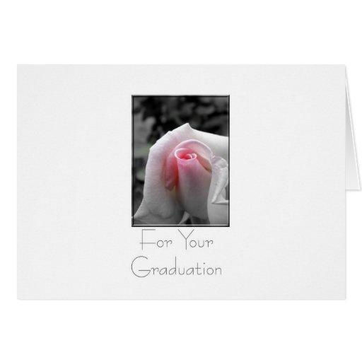 Subió en la graduación gris tarjeta