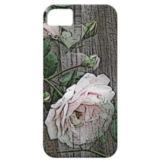 Subió en la madera resistida iPhone 5 Case-Mate protector