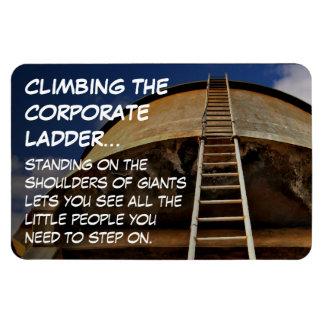 Subir la escalera corporativa da perspectiva iman de vinilo