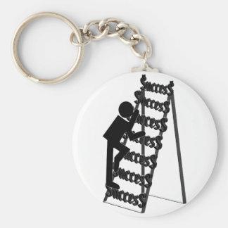 Subir la escalera del éxito llavero redondo tipo pin