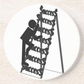 Subir la escalera del éxito posavasos de arenisca