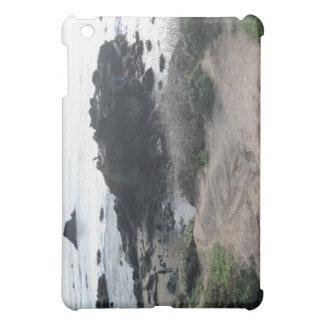Subir las rocas en una playa de Cambria