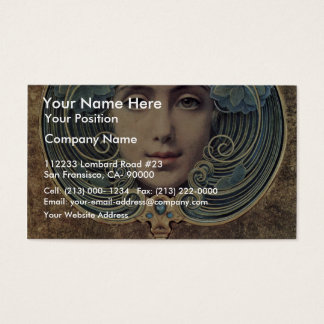 Subjects On A Golden Background By Hawkins Louis W Business Card