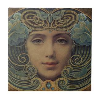 Subjects on Golden Reason Ceramic Tile
