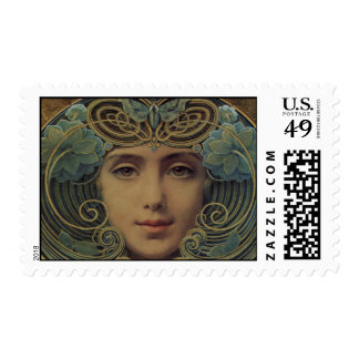 Subjects on Golden Reason Postage Stamp