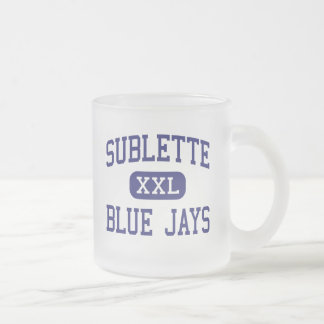 Sublette Blue Jays Middle Sublette Kansas Frosted Glass Coffee Mug