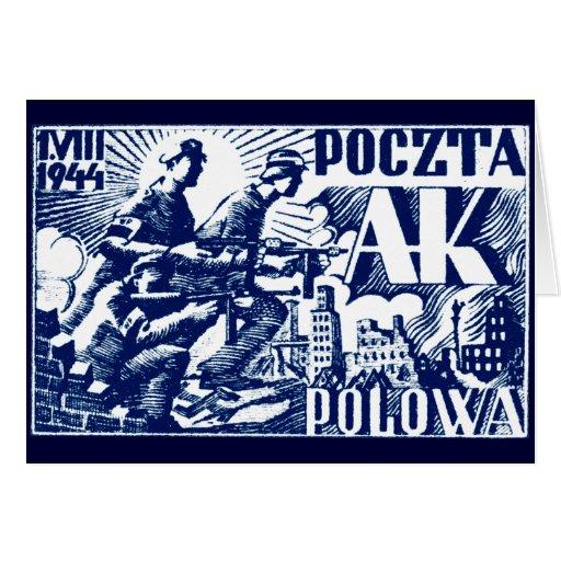 Sublevación 1944 de Varsovia Felicitacion