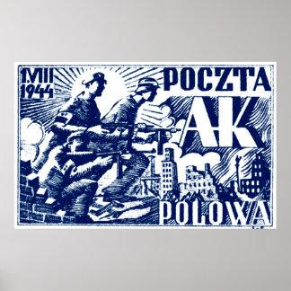 Sublevación 1944 de Varsovia Póster