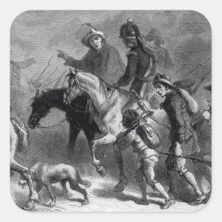 Sublevación de Nueva Inglaterra Yeomanry Pegatina Cuadrada