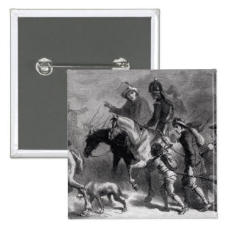 Sublevación de Nueva Inglaterra Yeomanry Pin Cuadrada 5 Cm