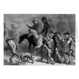 Sublevación de Nueva Inglaterra Yeomanry Tarjeta De Felicitación
