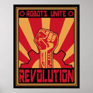 Sublevación del robot póster