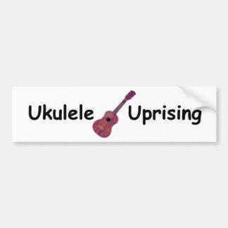 Sublevación del Ukulele Etiqueta De Parachoque