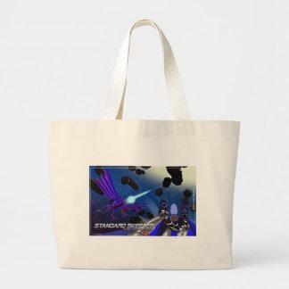 Sublight Skeeter/blue Large Tote Bag