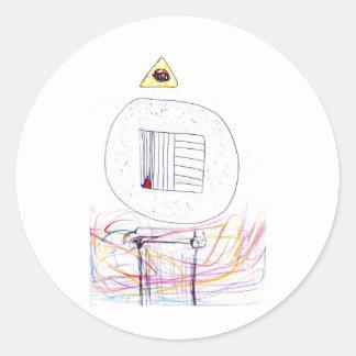 Sublimated Symbology Classic Round Sticker