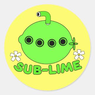 Sublime Classic Round Sticker